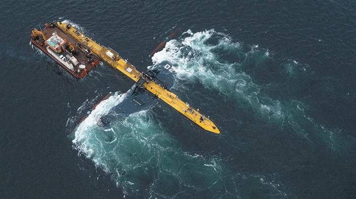 У берегов Британии запустили самую мощную приливную турбину (видео)