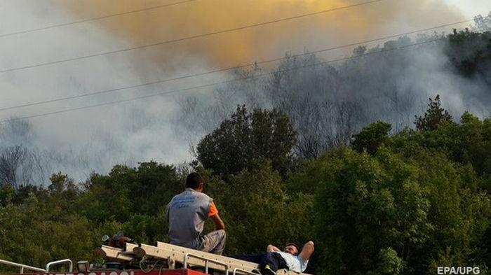 Лесной пожар вспыхнул в Черногории