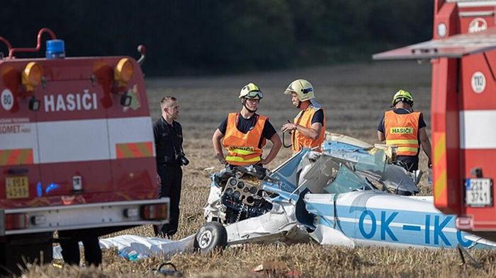 В Чехии упал спортивный самолет, есть жертвы