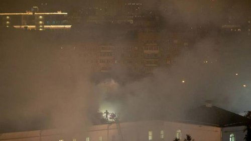 В Москве горело общежитие Военного университета